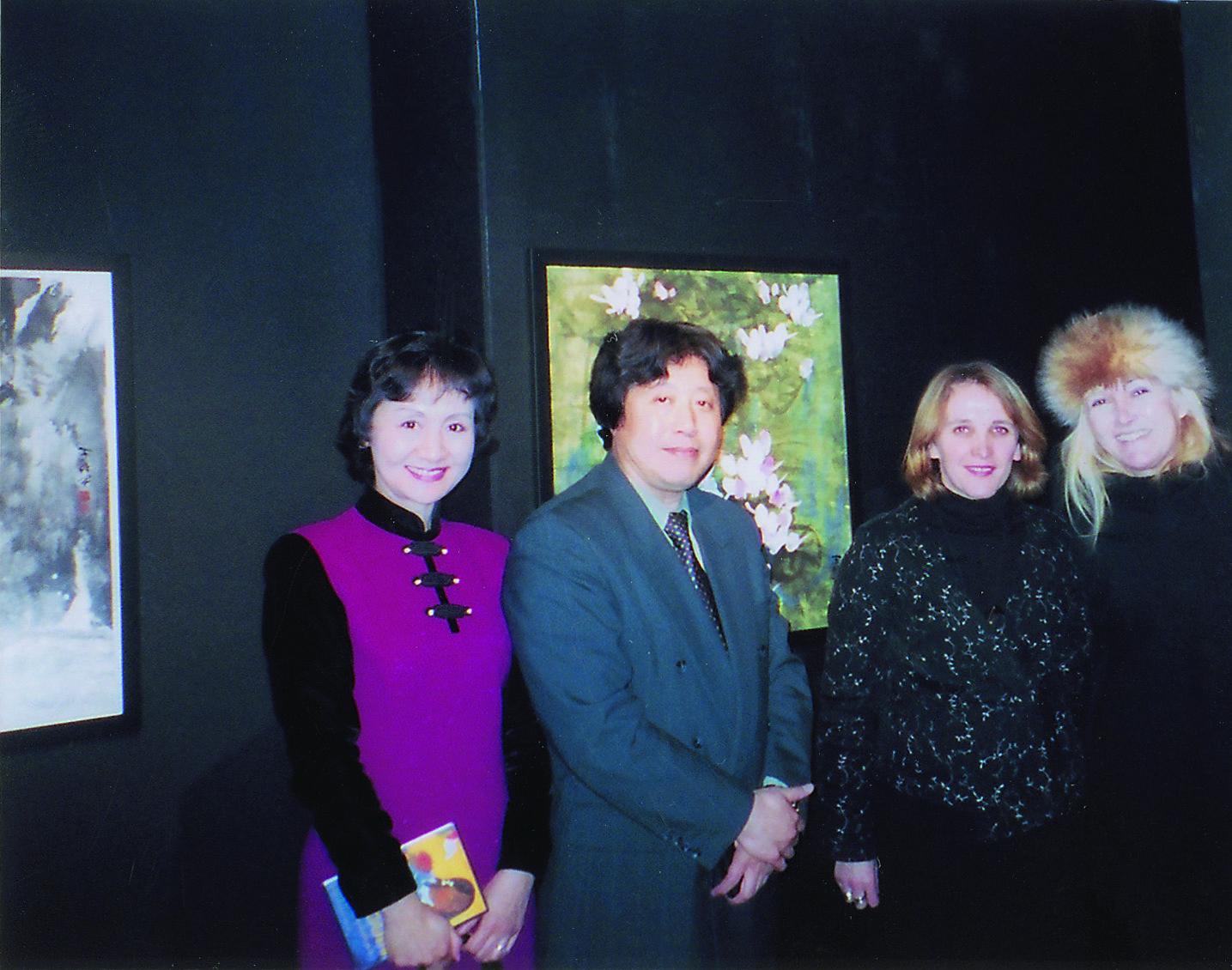 2003年フランスパリでの個展にて